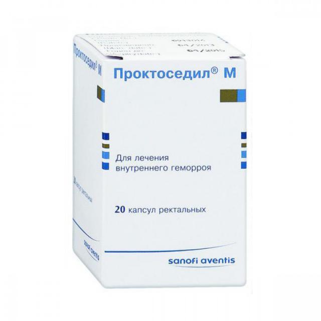 Проктоседил М капсулы ректальные 500мг №20 купить в Москве по цене от 0 рублей