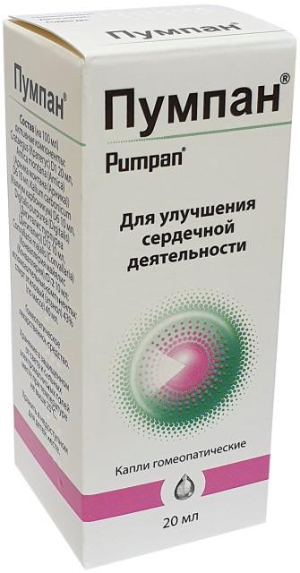 Пумпан капли гомеопатические 20мл купить в Москве по цене от 274 рублей