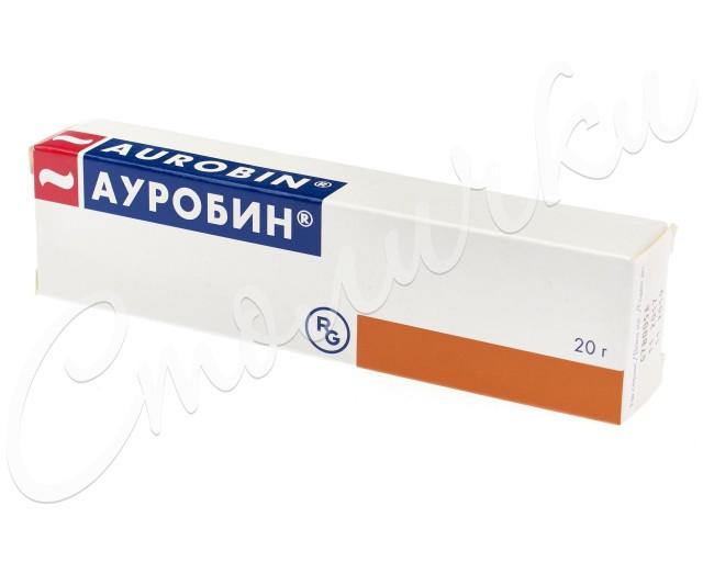 Ауробин мазь 20г купить в Москве по цене от 341 рублей