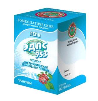 Эдас-953 Гепа (гепатит) гранулы 20г купить в Москве по цене от 131 рублей