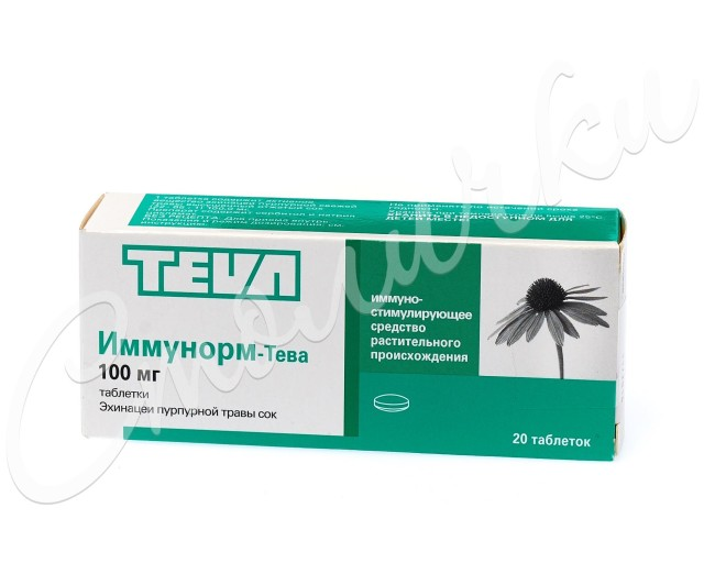 Иммунорм таблетки 100мг №20 купить в Москве по цене от 199 рублей