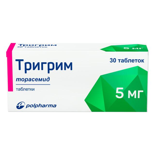 Тригрим таблетки 5мг №30 купить в Москве по цене от 380 рублей