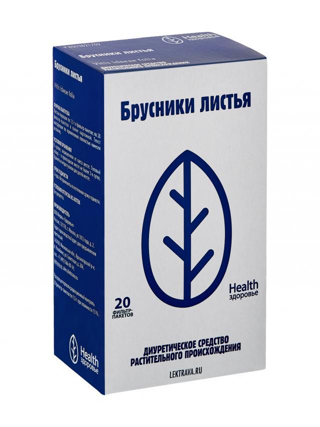 Брусника листья Здоровье 1,5г №20 купить в Москве по цене от 66 рублей