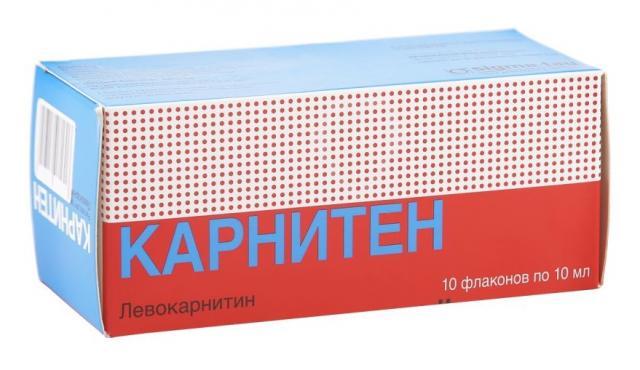 Карнитен раствор для внутреннего применения 1г 10мл №10 купить в Москве по цене от 0 рублей