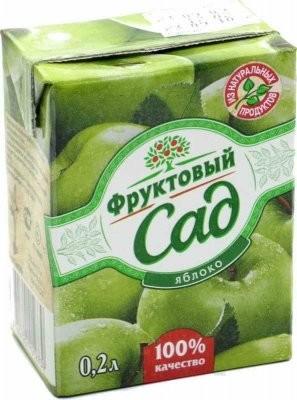 Фруктовый сад Яблоко 200мл купить в Москве по цене от 40 рублей