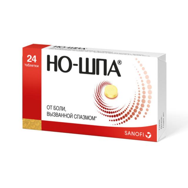 Но-шпа таблетки 40мг №24 купить в Москве по цене от 110.5 рублей