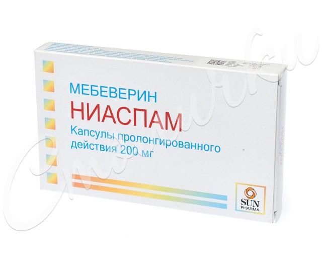 Ниаспам капсулы пролонг. 200мг №30 купить в Москве по цене от 362.5 рублей