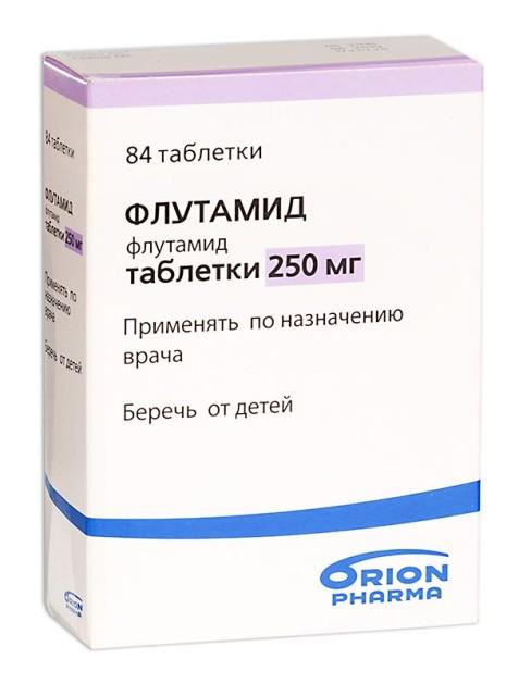 Флутамид таблетки п.о 250мг №84 купить в Москве по цене от 1811 рублей