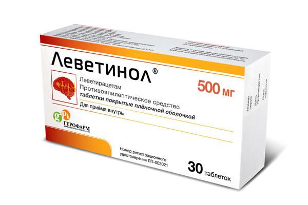 Леветинол таблетки п.о 500мг №30 купить в Москве по цене от 890 рублей