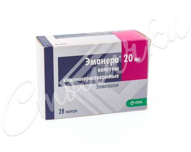 Эманера капсулы 20мг №28 купить в Москве по цене от 196.5 рублей