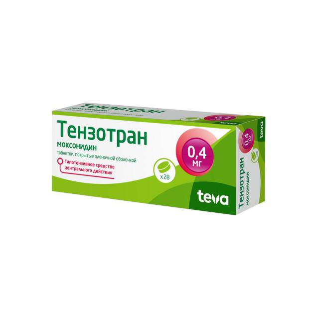 Тензотран таблетки п.о 0,4мг №28 купить в Москве по цене от 722 рублей