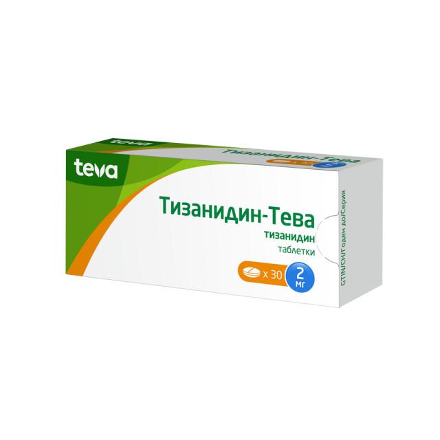 Тизанидин таблетки 2мг №30 купить в Москве по цене от 126.5 рублей