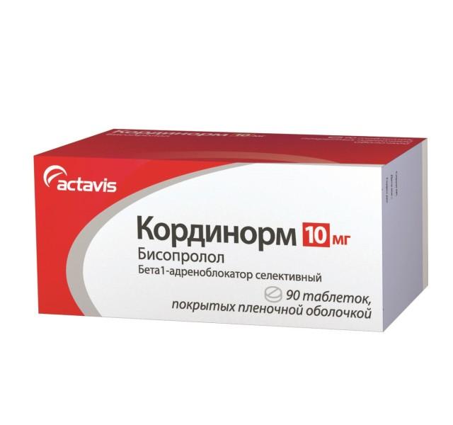 Кординорм таблетки п.о 10мг №90 купить в Москве по цене от 432.5 рублей