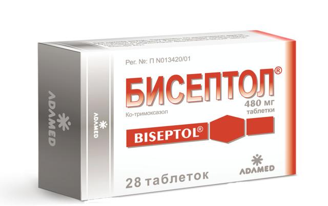 Бисептол таблетки 480мг №28 купить в Москве по цене от 90.5 рублей