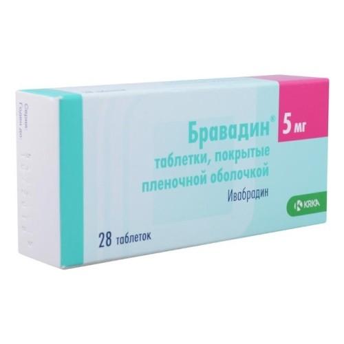Бравадин таблетки п.о 5мг №56 купить в Москве по цене от 746 рублей