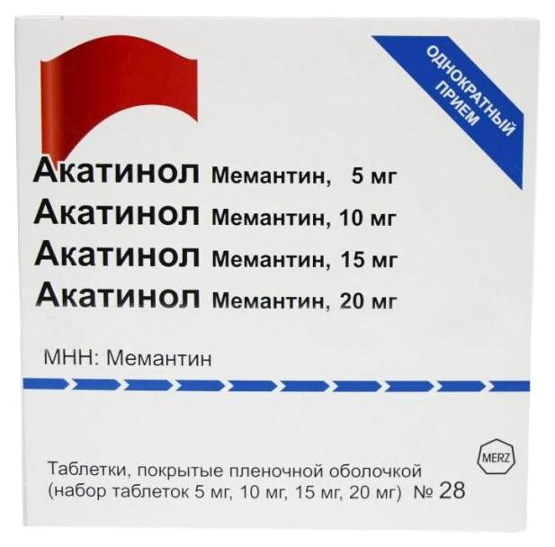 Акатинол Мемантин набор таблетки п.о 5мг 10мг 15мг 20мг №28 купить в Москве по цене от 1708 рублей