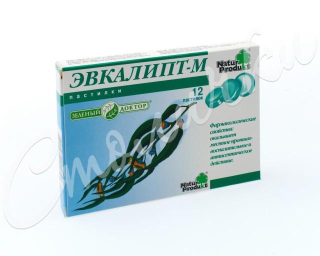 Эвкалипт-М Зеленый доктор пастилки №12 купить в Москве по цене от 158 рублей