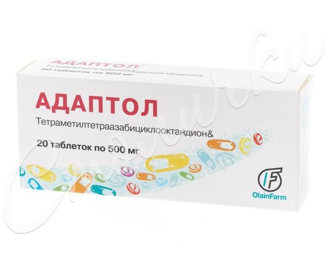 Адаптол таблетки 500мг №20 купить в Москве по цене от 698 рублей