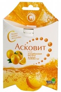 Асковит Апельсин таблетки шипучие 1г №10 купить в Москве по цене от 200 рублей
