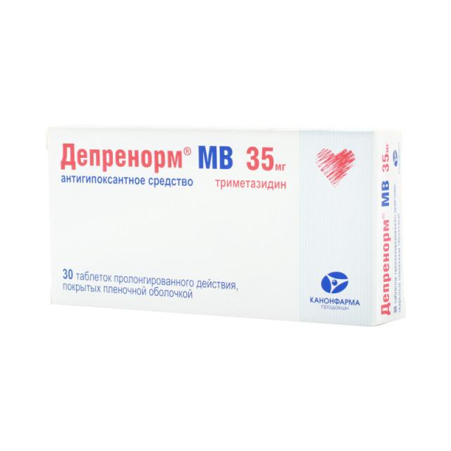 Депренорм МВ таблетки п.о 35мг №60 купить в Москве по цене от 352 рублей