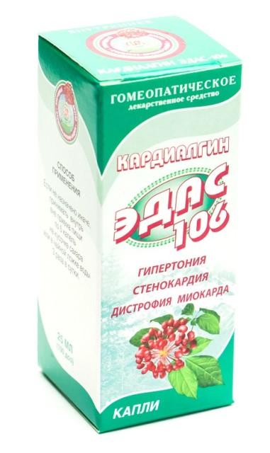 Эдас-106 Кардиалгин (серд.-сосуд. сист.) капли 25мл купить в Москве по цене от 134 рублей