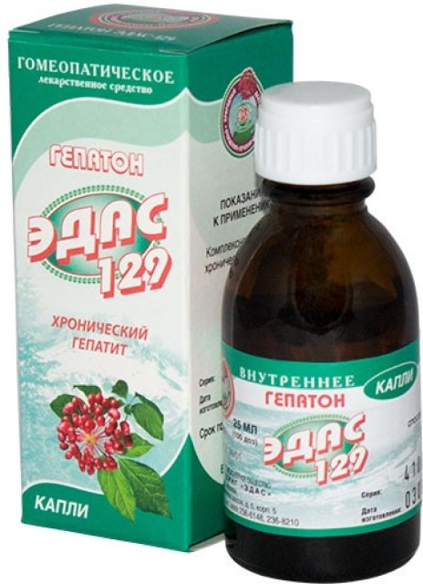 Эдас-129 Гепатон (гепатит) капли 25мл купить в Москве по цене от 142 рублей