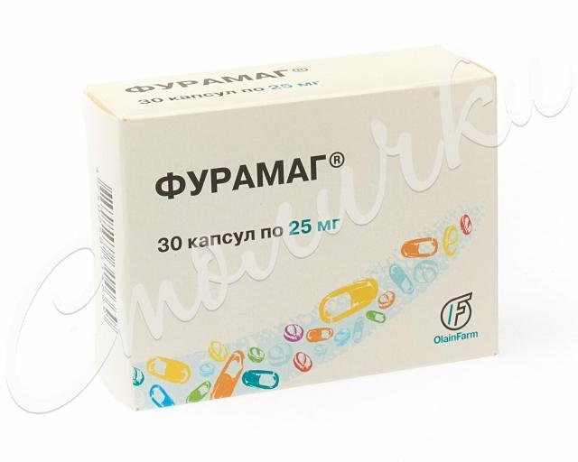 Фурамаг капсулы 25мг №30 купить в Москве по цене от 559 рублей