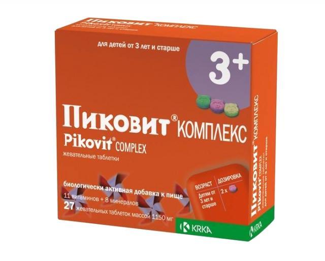 Пиковит комплекс таблетки жевательные №27 купить в Москве по цене от 0 рублей