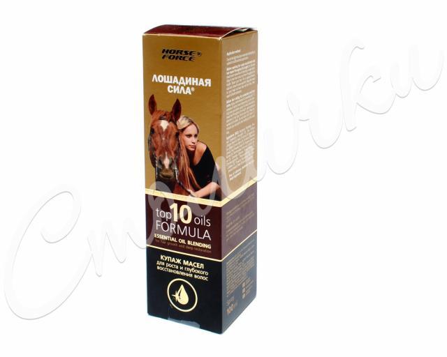 Лошадиная сила купаж масел для волос д/роста/восстан. 100мл купить в Москве по цене от 0 рублей