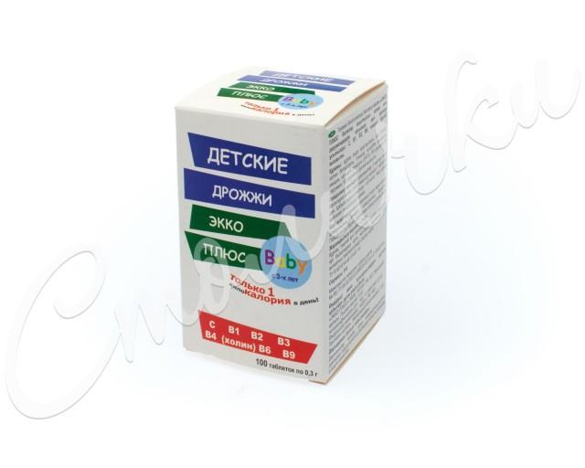 Дрожжи пивные Экко плюс Детские таблетки №100 купить в Москве по цене от 125 рублей