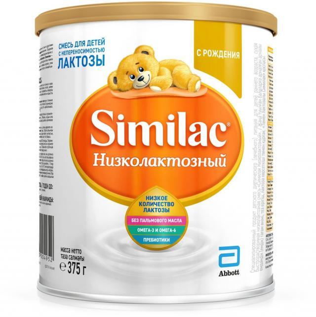 Симилак Низколактозный смесь 375г купить в Москве по цене от 0 рублей
