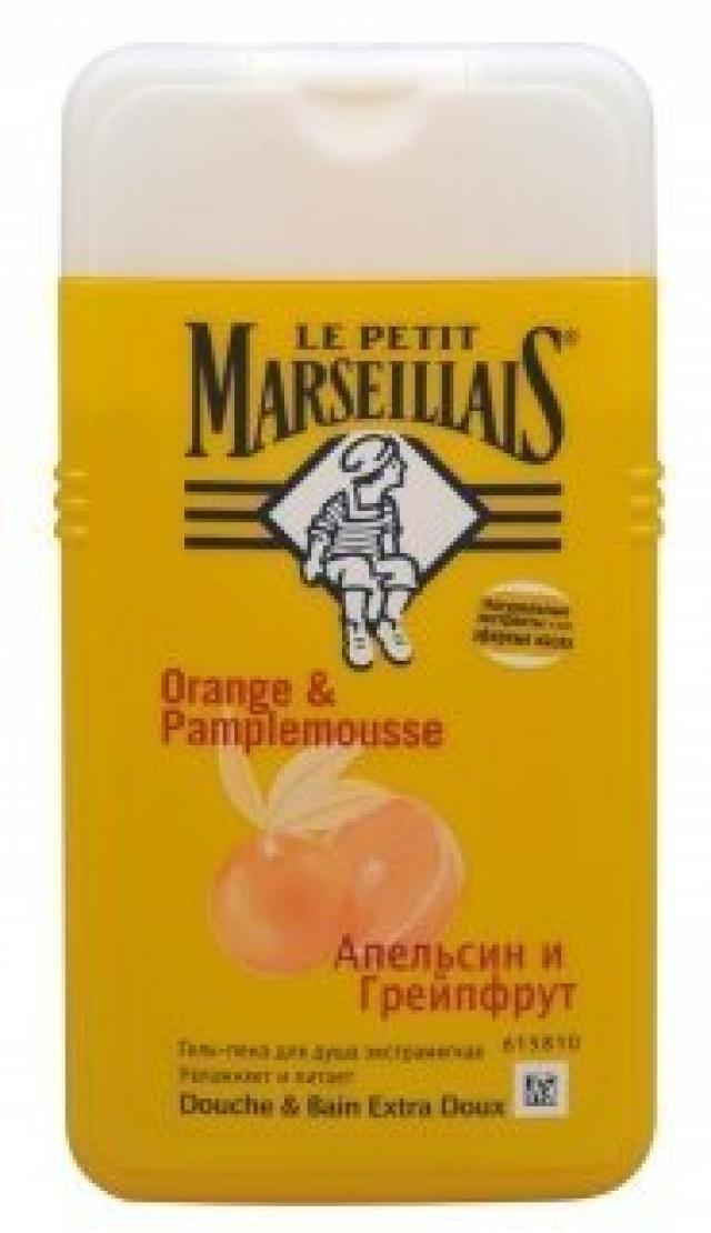 Ле Петит Марсельез гель-пена для душа апельсин/грейпфрут 250мл купить в Москве по цене от 0 рублей