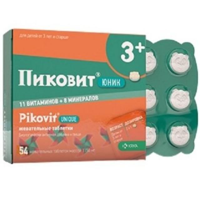 Пиковит Юник таблетки жевательные №54 купить в Москве по цене от 0 рублей