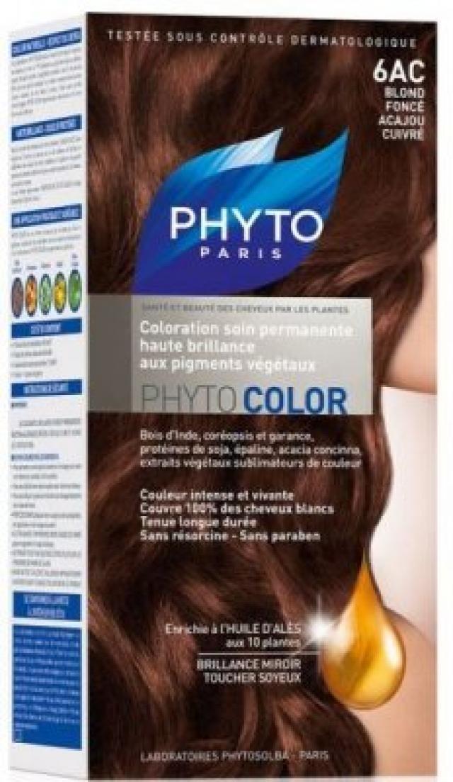 Фитосольба Фитоколор краска для волос т.6AC темн.блонд медь-красн.дерево купить в Москве по цене от 0 рублей