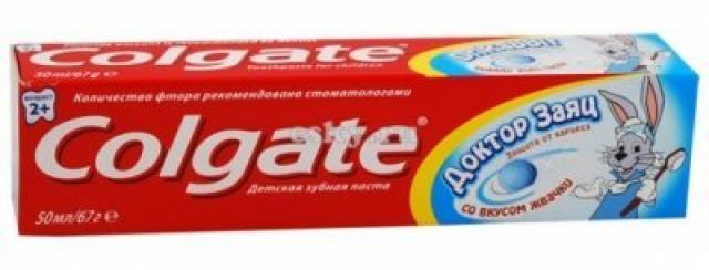Колгейт зубная паста Доктор заяц для детей жвачка 50мл купить в Москве по цене от 0 рублей