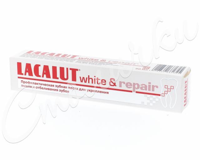Лакалют зубная паста Уайт энд Рипейр 50мл купить в Москве по цене от 230 рублей