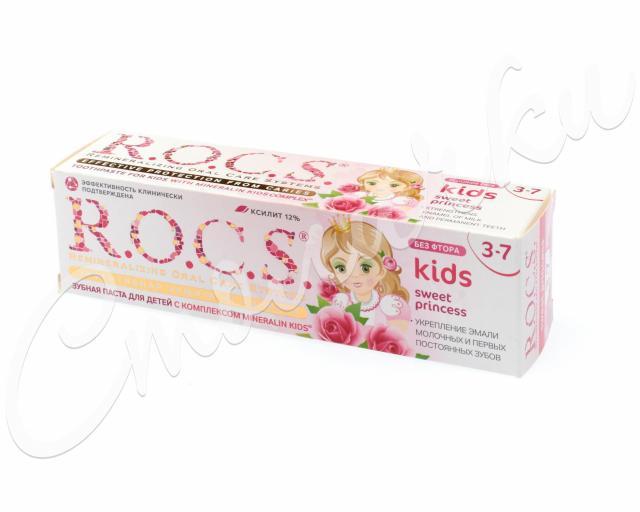Рокс зубная паста Кидс Свит Принцесс роза 45г купить в Москве по цене от 208 рублей