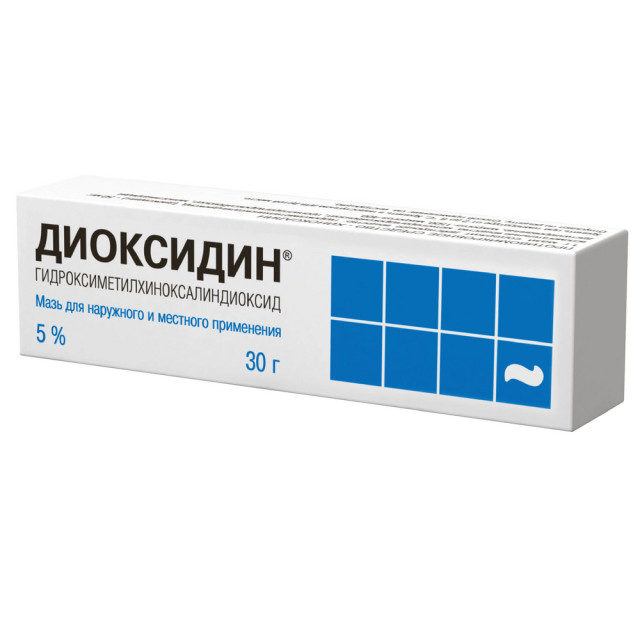 Диоксидин мазь 5% 30г купить в Москве по цене от 405 рублей