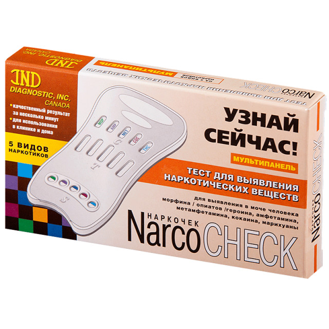 Тест Наркочек Мультипанель д/выяв. 5 видов наркотиков в моче купить в Москве по цене от 216 рублей
