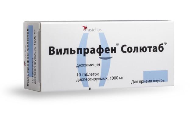 Вильпрафен солютаб таблетки дисперг. 1г №10 купить в Москве по цене от 646.5 рублей