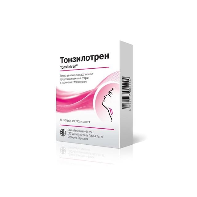 Тонзилотрен таблетки №60 купить в Москве по цене от 497 рублей