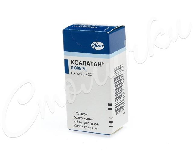 Ксалатан капли глазные 0,005% 2,5мл купить в Москве по цене от 688 рублей