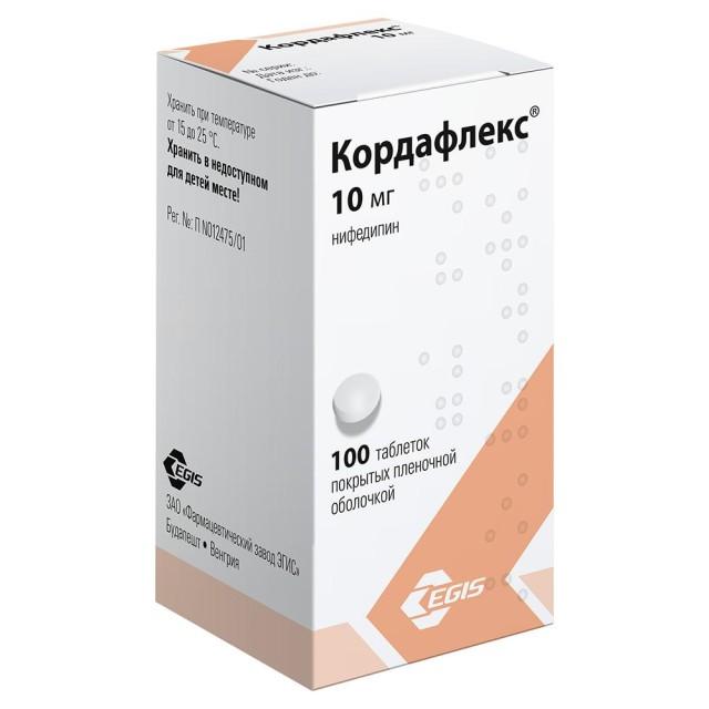 Кордафлекс таблетки п.о 10мг №100 купить в Москве по цене от 85 рублей