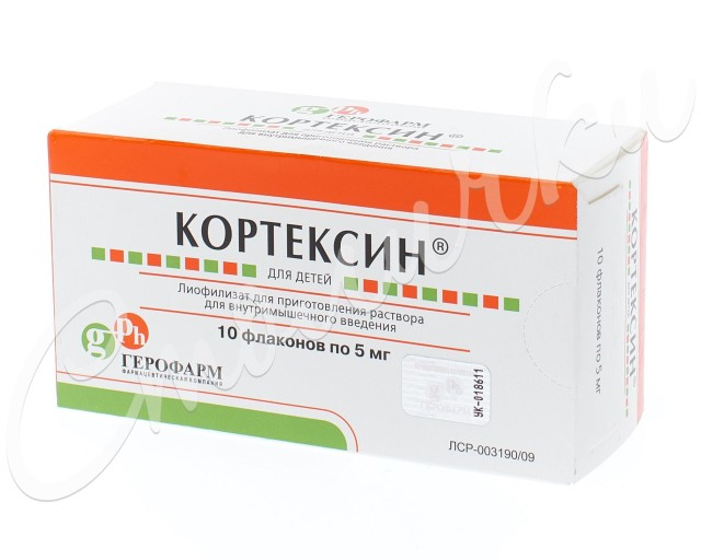 Кортексин лиофилизат внутримышечно 5мг №10 купить в Москве по цене от 829.5 рублей