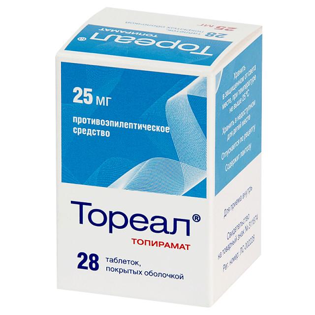 Тореал таблетки 25мг №28 купить в Москве по цене от 166 рублей