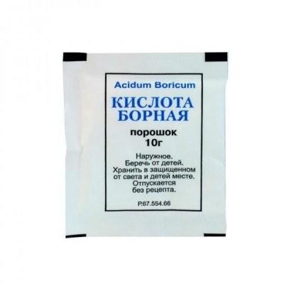 Борная кислота порошок наружн. 10г купить в Москве по цене от 25 рублей