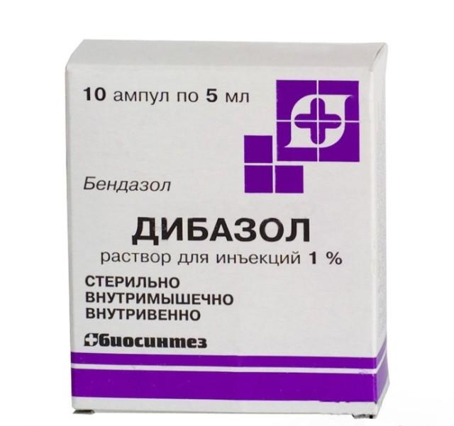 Дибазол раствор внутривенно и внутримышечно 1% 5мл №10 купить в Москве по цене от 38 рублей
