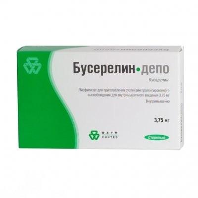 Бусерелин-депо лиофилизат для приготовления суспензии внутримышечно 3,75мг купить в Москве по цене от 3678.5 рублей