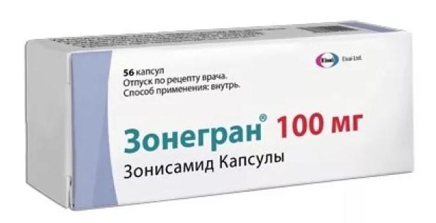 Зонегран капсулы 100мг №56 купить в Москве по цене от 4540 рублей