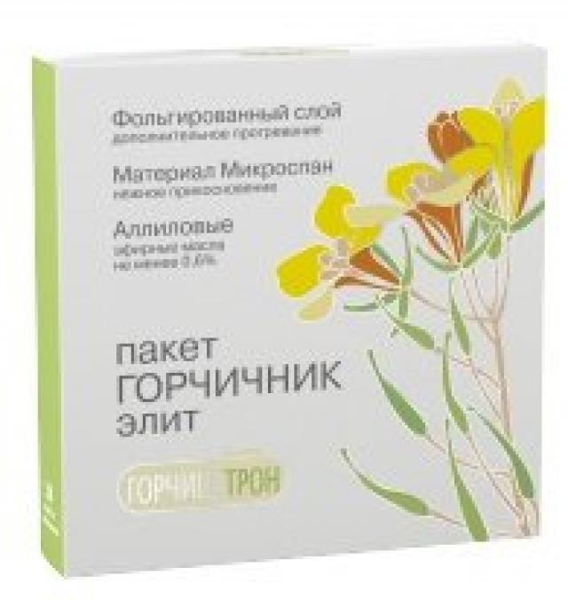 Горчицатрон горчичник-пакет Элит №10 купить в Москве по цене от 179 рублей
